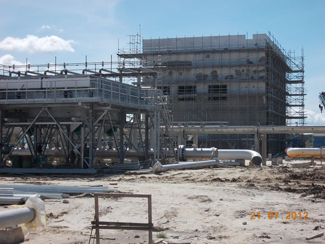 Provision of Construction Pipe Support and Vessel Foundation at