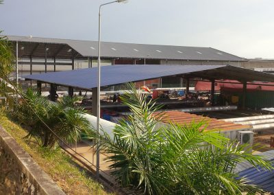 Installation of HVAC (Split Unit), Steel Structure Works & Roofing Works for Single Storey Office, Canteen and Walkway